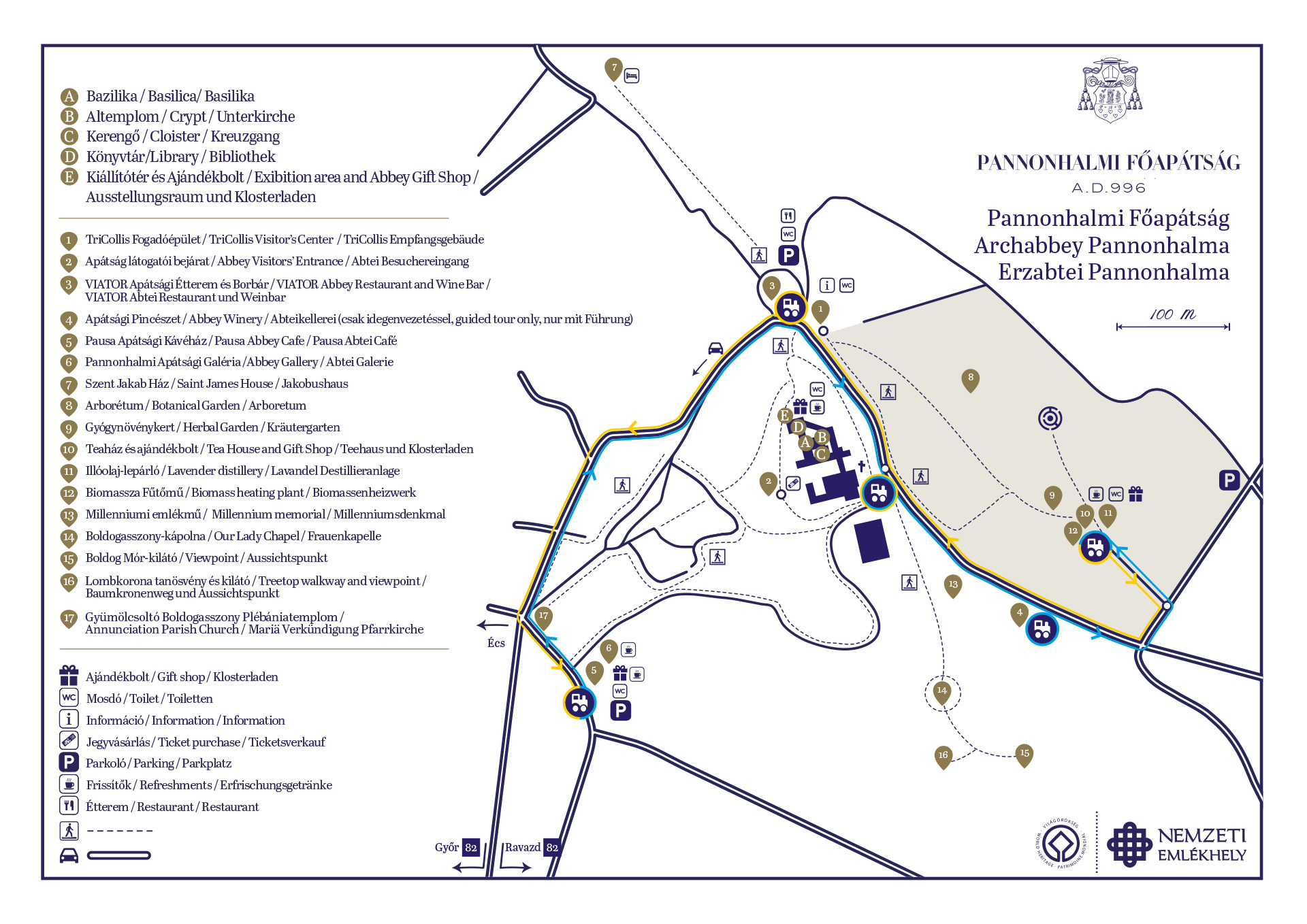 Pannonhalmi Kisvonat térkép